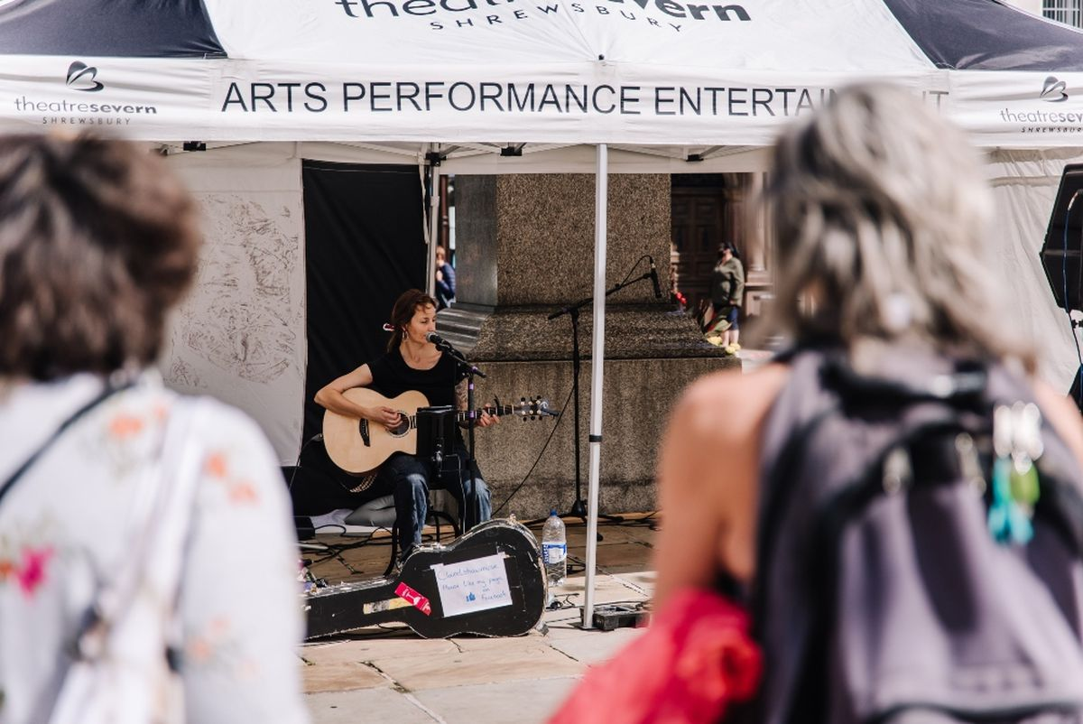 Live music has brought atmosphere to the Square in Shrewsbury