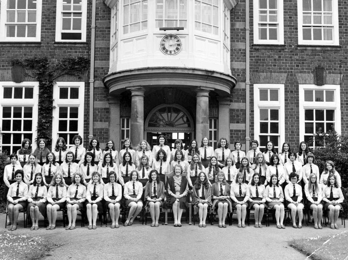Prefects at Wellington Girls' High School in about 1973.