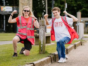 Telford parkrun organisers Kim Fawke and Nathan Green preparing for this weekend's return