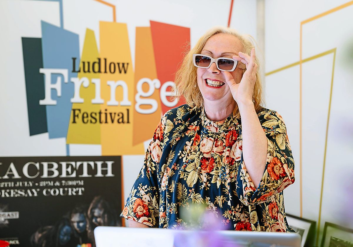 Anita Bigsby, Ludlow Fringe Festival director, says there will be about 50 live performances for audiences to enjoy at the event
