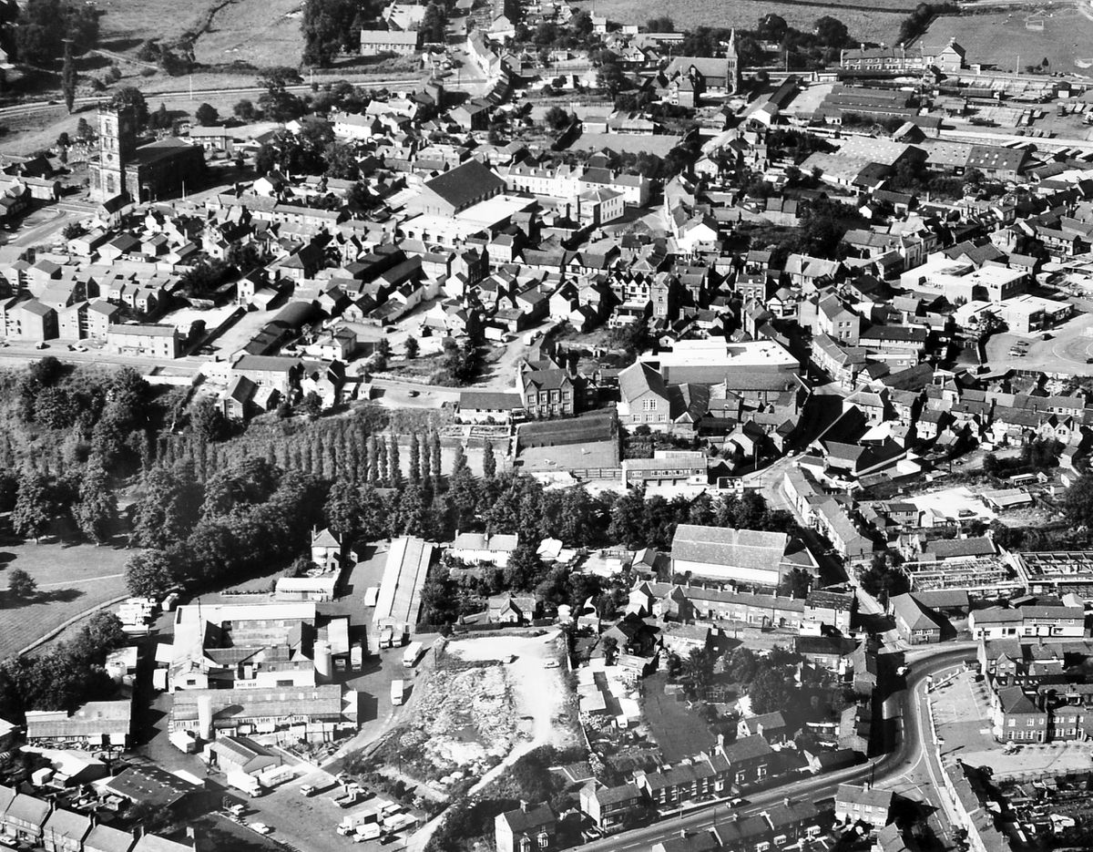 Whitchurch readers can have fun spotting what's changed and what has stayed the same since this aerial view of the town was taken in 1978. The town's dairy is bottom left, St Alkmund's Church top left, and the Smithfield market top right.