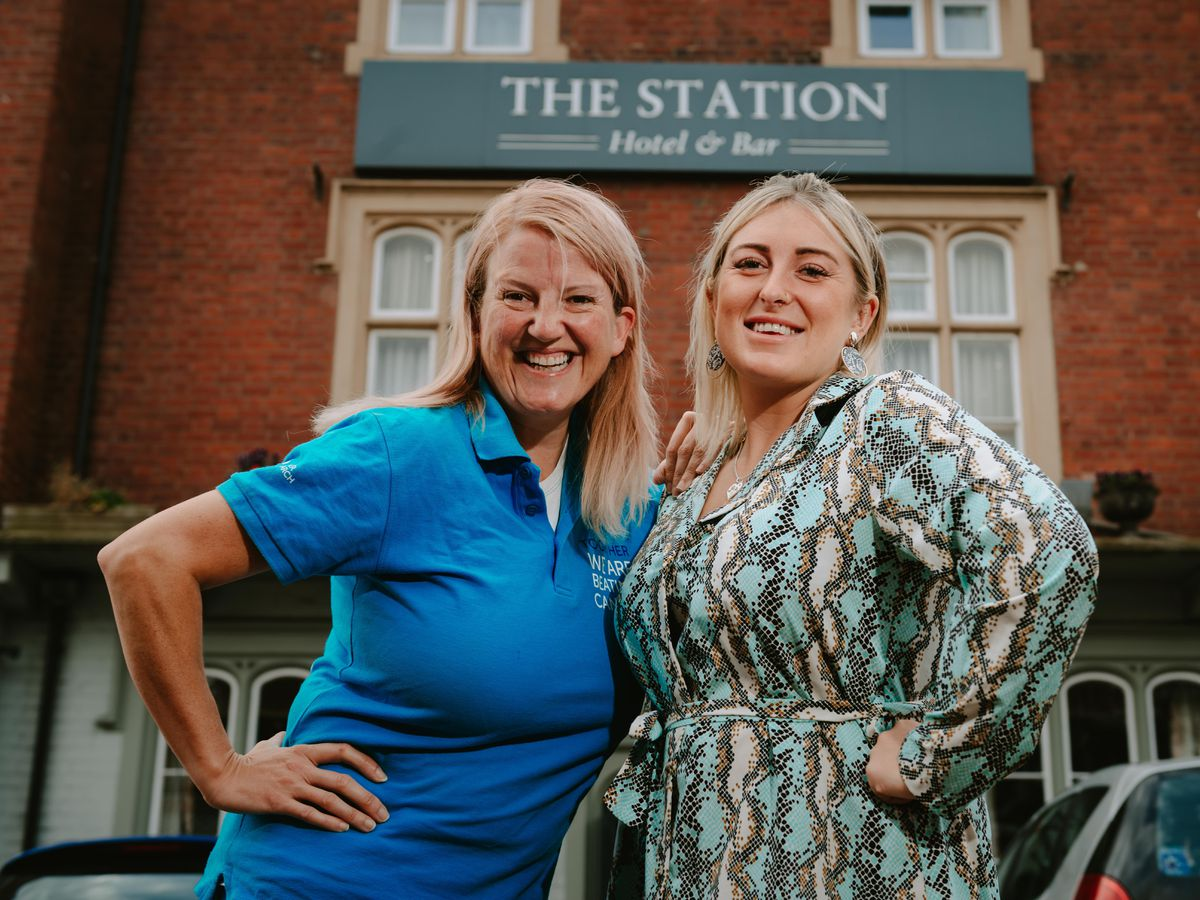Louise Jenks and Mia Evans, of The Station Hotel