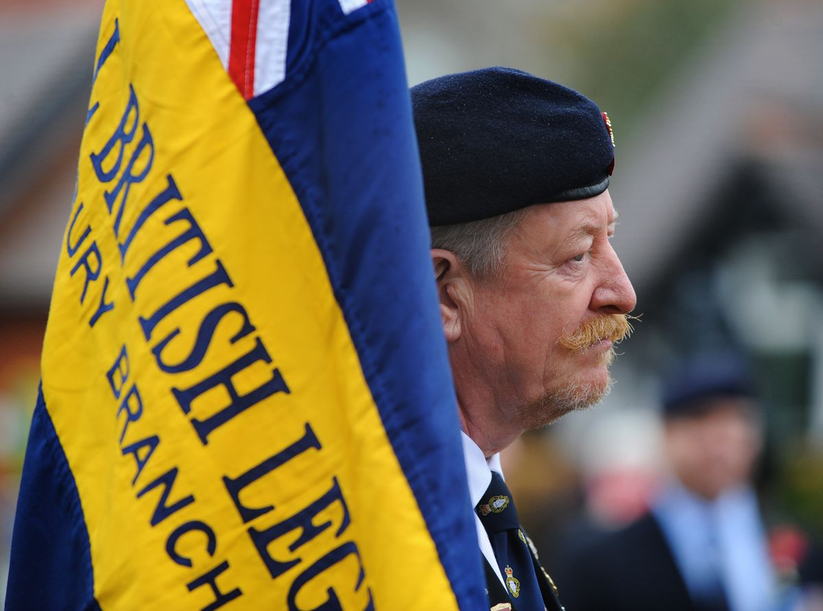 Royal British Legion Shrewsbury Branch standard bearer Phil Breeze