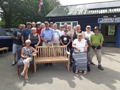 Bench unveiled to honour Shropshire adventure camp's founder
