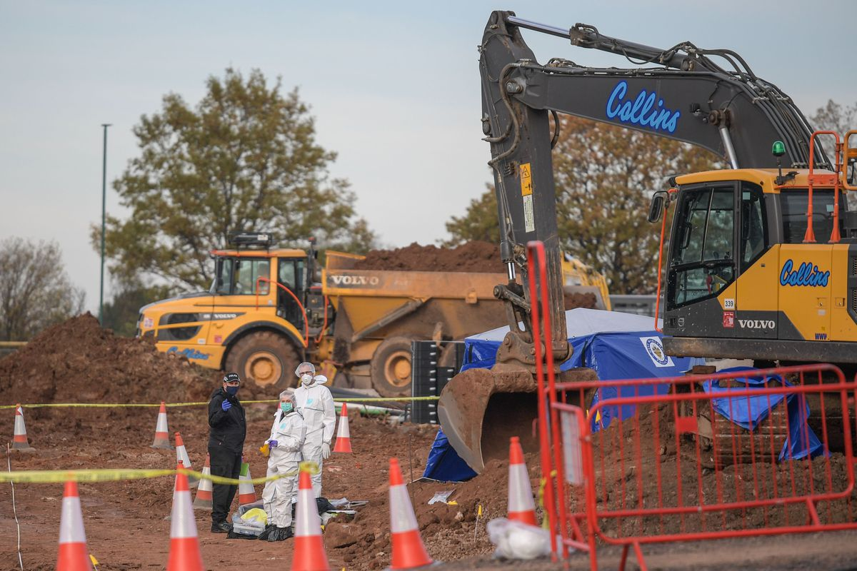 The remains were found at the construction site on Wednesday. Photo: SnapperSK