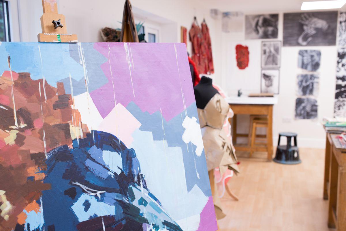 Concord College art studio