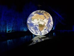 Gigantic sculpture brings spectacular view of Earth to Millennium Point