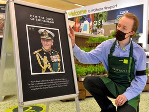 Staff at Waitrose in Newport wore black armbands in tribute to the Duke