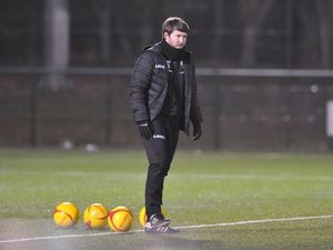 NORTH COPYRIGHT MIKE SHERIDAN TNS Caretaker Manager Chris Seargeant during the JD Cymru Premier League fixture between The New Saints(TNS) and Cefn Druids at the Venue Stadium(Park Hall) on Tuesday, March 16, 2020...Picture credit: Mike Sheridan/Ultrapress..MS2021-058.