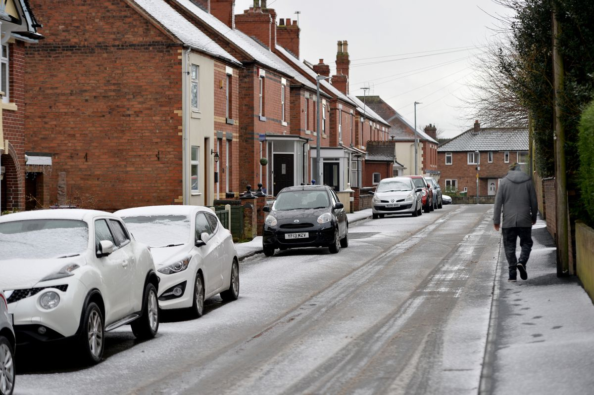 Snow in St Georges, Telford