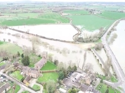 WATCH: Drone footage shows River Severn flooding near Shrewsbury
