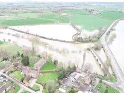 WATCH: Drone footage shows River Severn flooding near Shrewsbury
