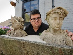Statues of tragic children returned to Bridgnorth beer garden