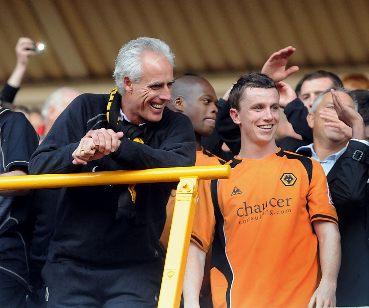 Smiles from Mick McCarthy and Kevin Foley.