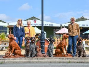 British Ironwork Centre marketing manager and GWP Secretary Alice Turnbull, GWP president Elaine Turnbull, dogs Chilli, Rugen, Ava and Hana, along with GWP owner and handler, Kim Donnelly