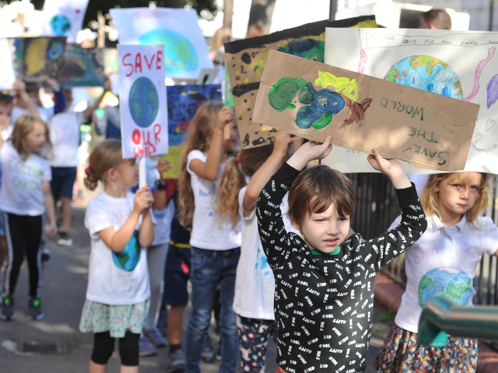 Hundreds of climate change protestors young and old turn out in Shrewsbury - in pictures and video