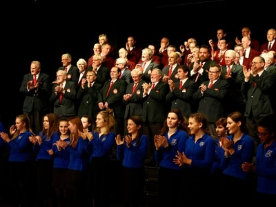 Choir raises the roof for celebration as plans for £1m theatre showcased