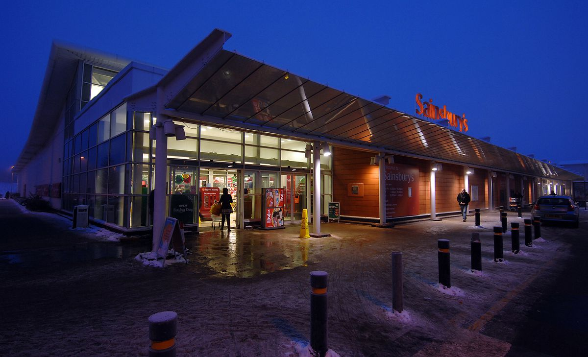 Shoppers in Sainsbury's, on Telford's Forge Retail Park