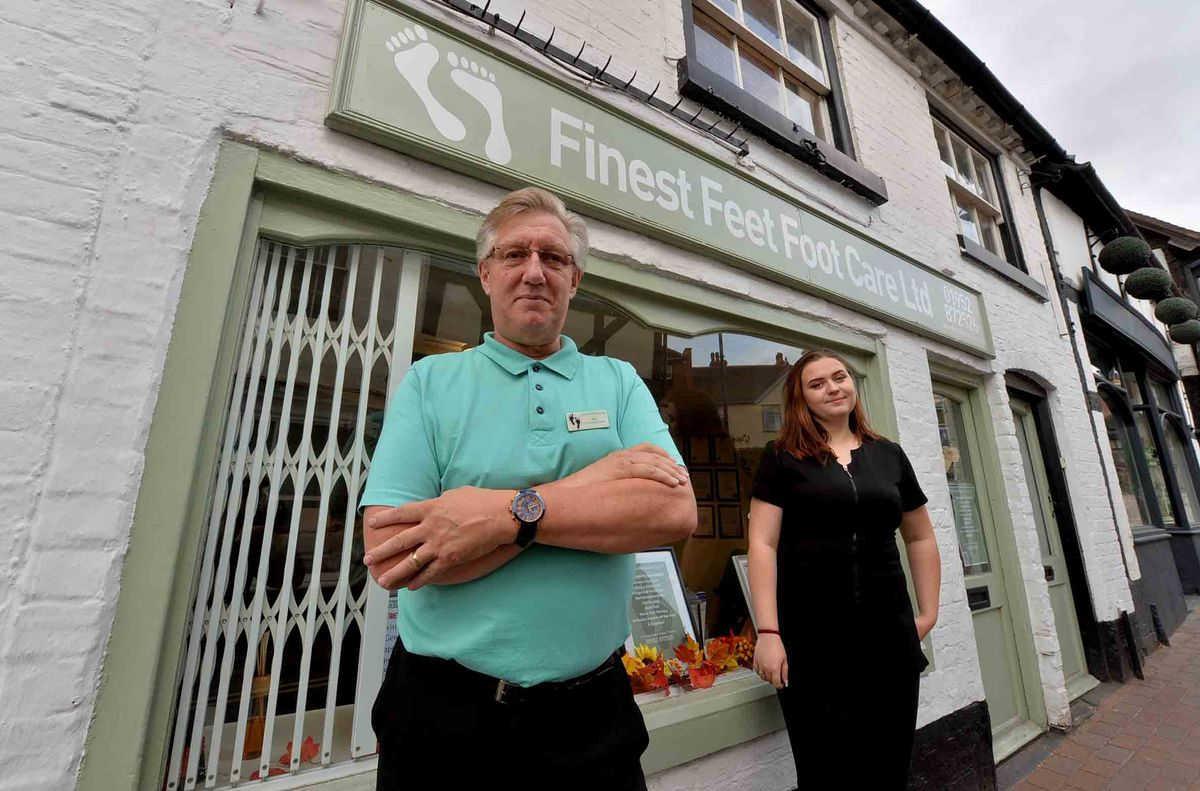 Mike Dickerson and Paige Buchanan-Jones of Finest Feet Footcare