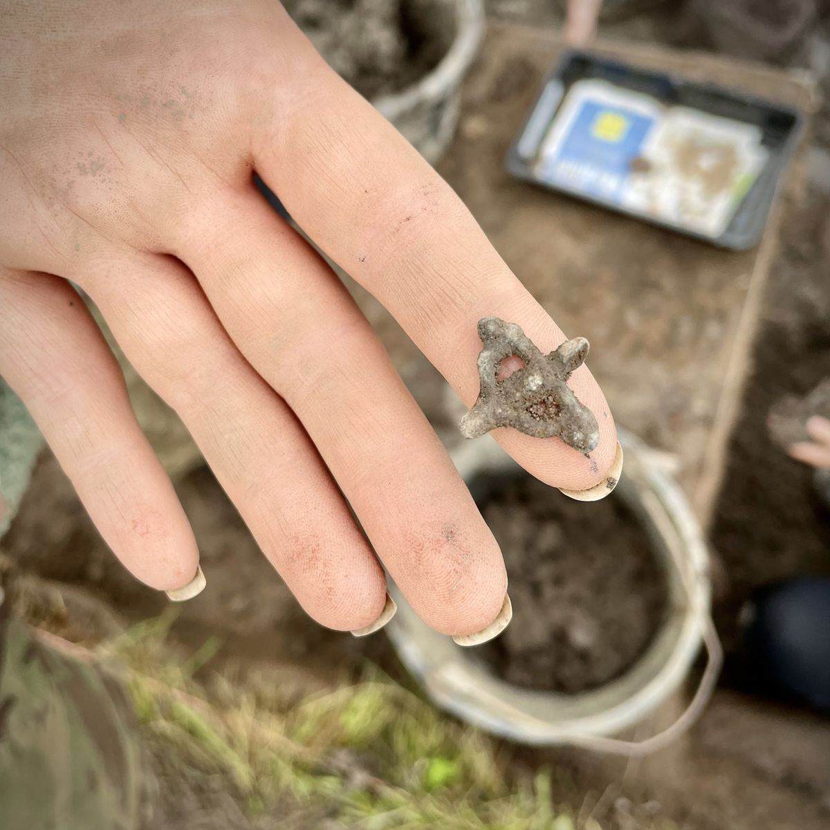 A pilgrim's badge found at Soulton Hall