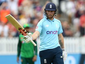 England's Phil Salt celebrates reaching 50 runs