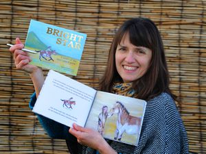 Holding a competition for young writers to send in their stories, with her book Bright Star, artist Louise Poole, of Hinstock