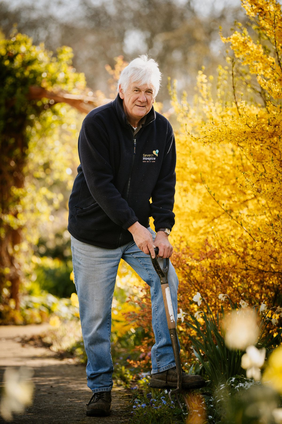 Seven Hospice head gardener Tony Comley is retiring.