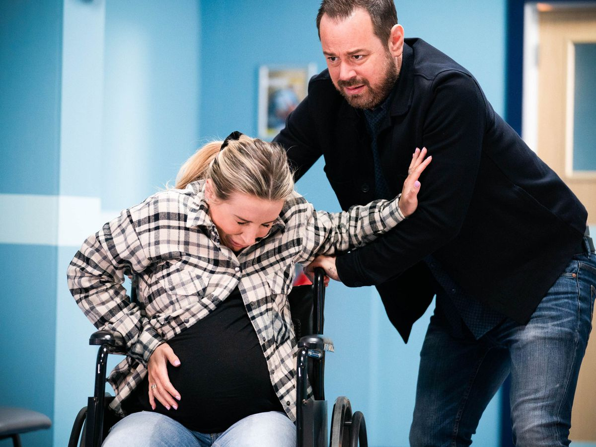 Dani Dyer and father Danny in EastEnders
