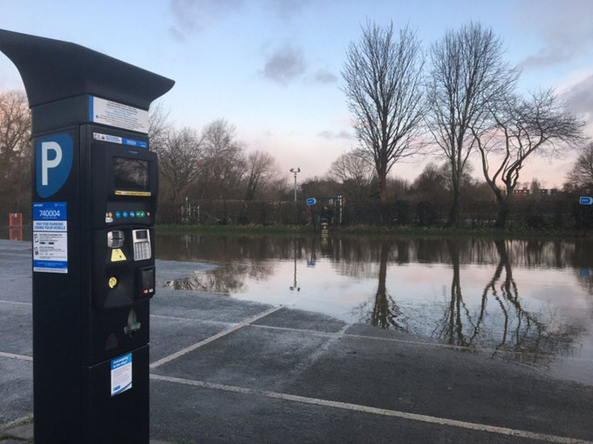 The partially reopened Frankwell car park
