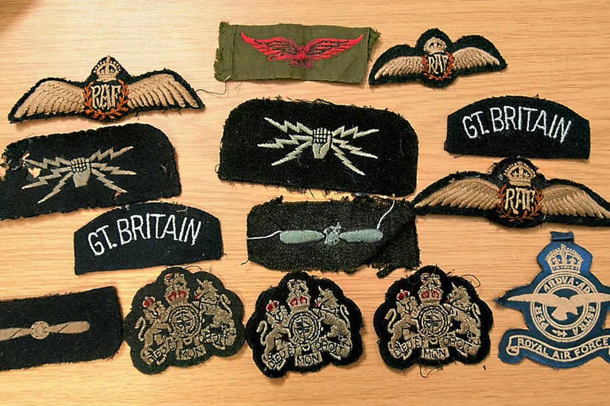 Badges and insignia form part of the mystery collection