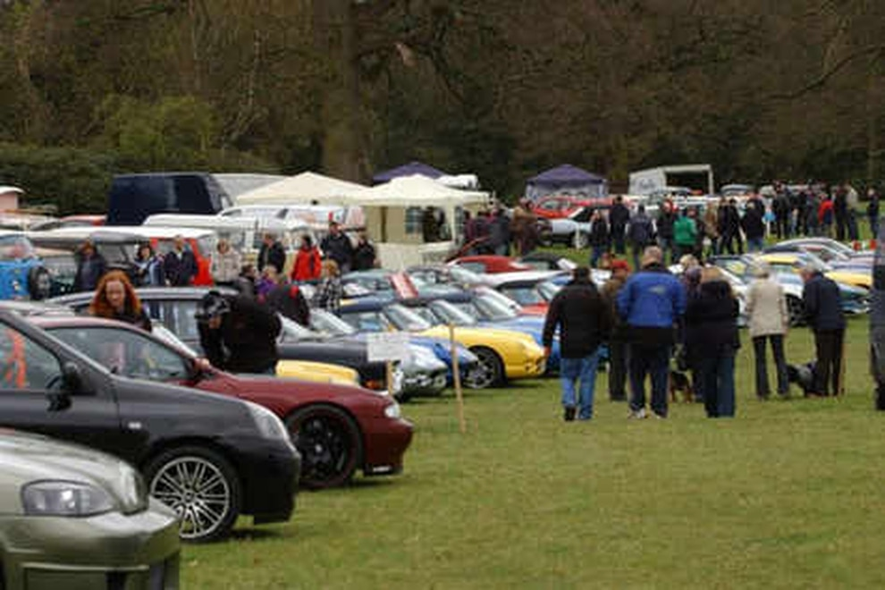 Classic Cars On Show At Weston Park Festival
