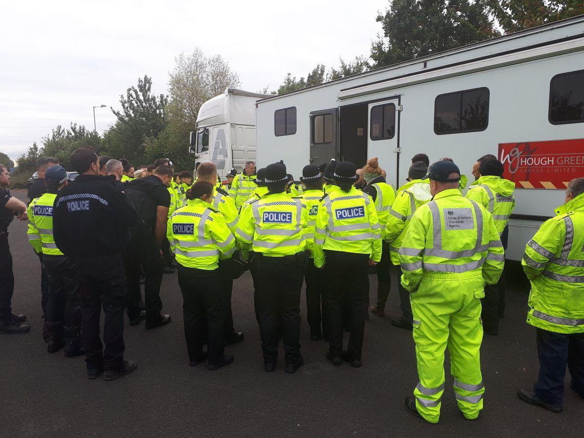 Police made four arrests for drug driving offences. Picture: LPPT North - West Mercia Police