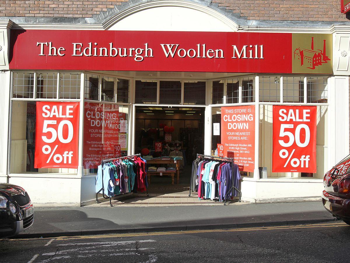 The old Edinburgh Woollen Mill store in Kidderminster