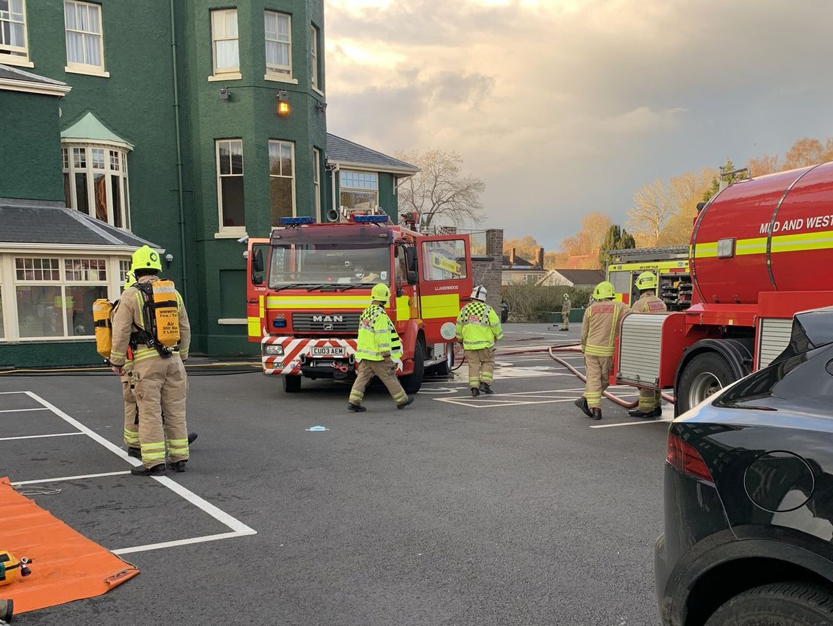 The fire at the Metropole Hotel in Llandrindod Wells