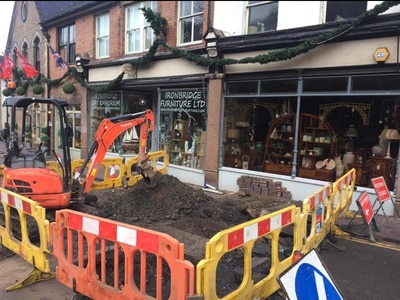Main road through Ironbridge set to reopen after being hit by burst pipe