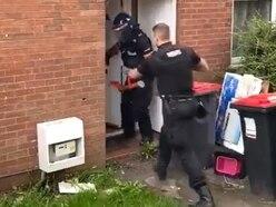 WATCH: Police break down door in Telford drugs raid