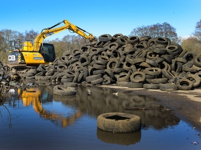 From 60,000-tyre scrapyard to Shropshire nature site - watch the work get under way