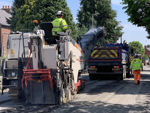 Recent resurfacing work in Whittington
