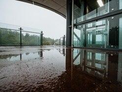 Telford's new £10 million footbridge hit by flooding problem