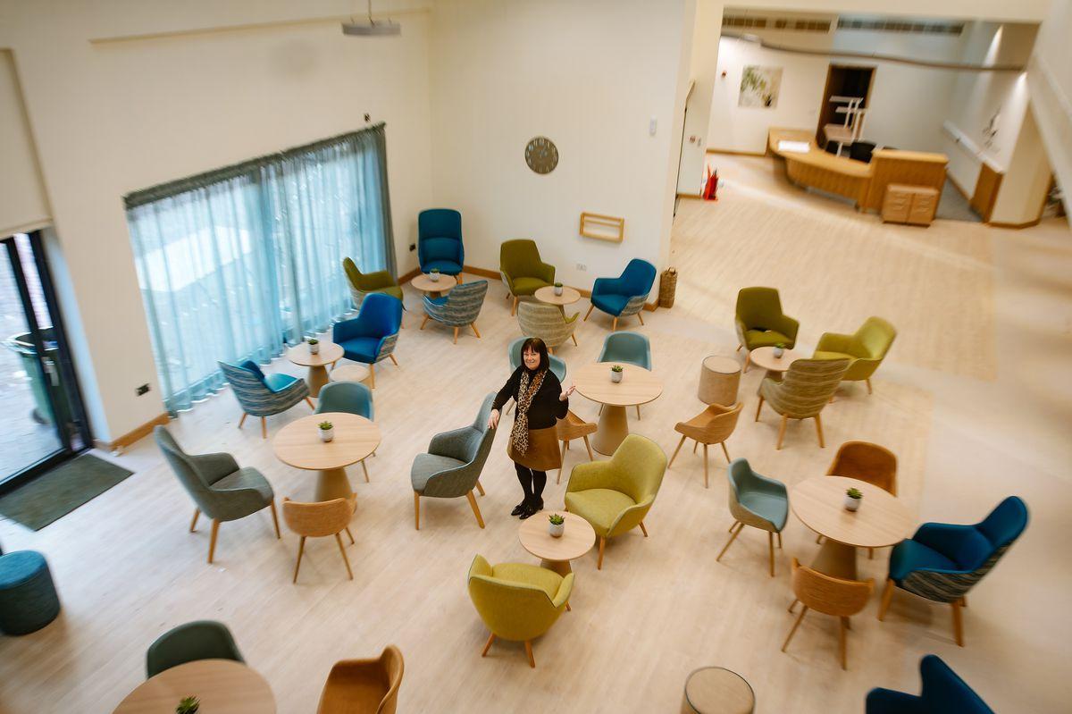 Severn Hospice's chief executive Heather Tudor at the new centre