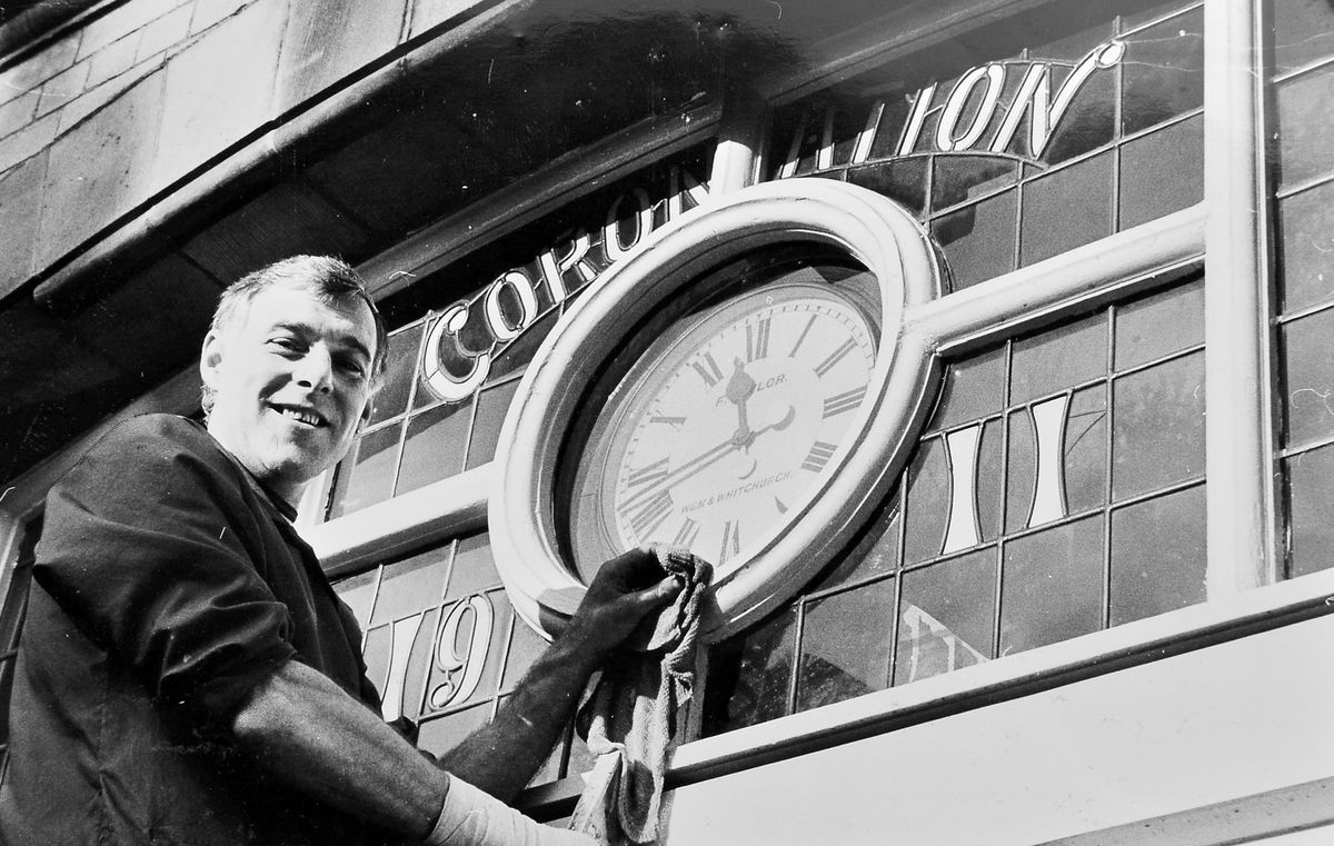 Time was running out for the Wem Town Hall clock in February 1983. Town hall caretaker Michael Maddocks is seen with the clock which the town council was putting up for sale. Since 1911 the clock had given residents the time, but despite continued repairs the clock was no longer accurate, so the council decided to replace it and to offer the old one as a collector's item. Which raises the question – where is it now?