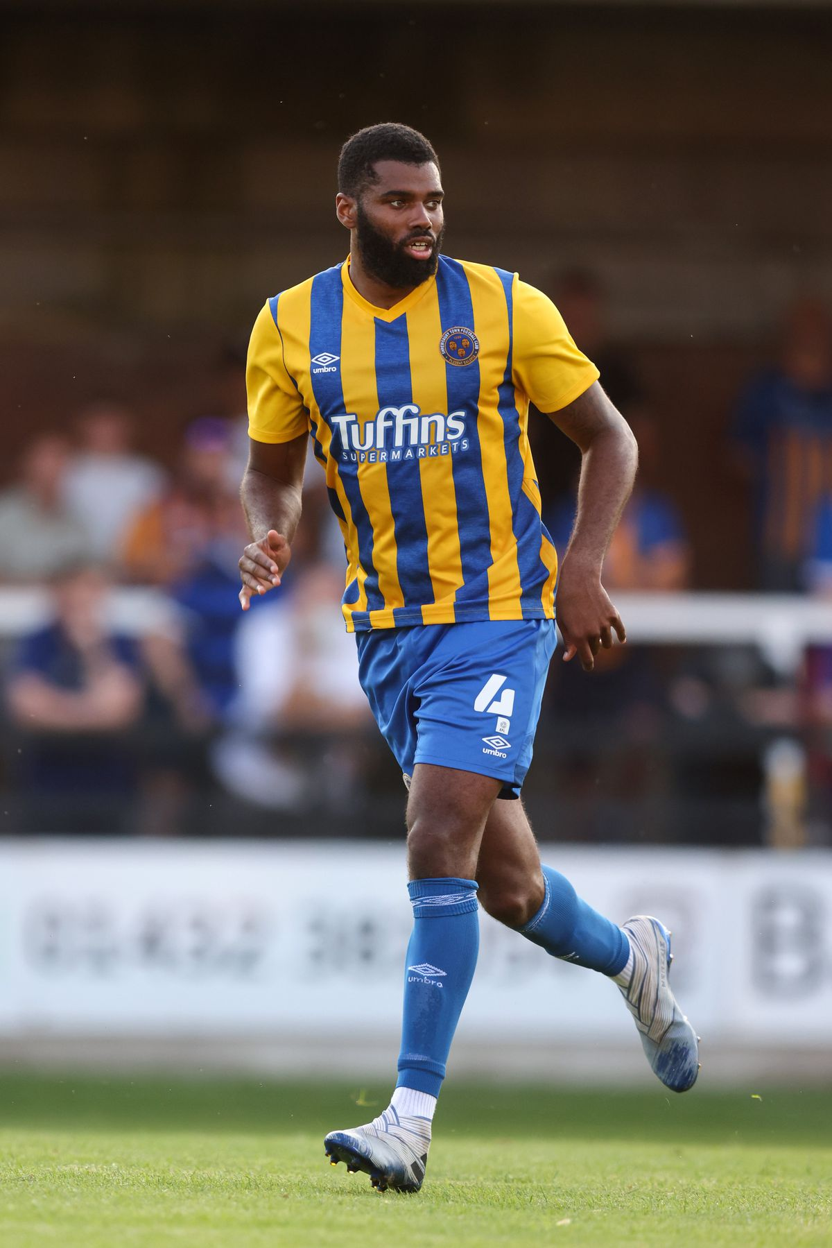 Ethan Ebanks-Landell in action in the second of Town's two friendlies, against Hereford (AMA)