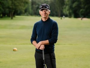 Jonathan Edwards took part in the Wenlock Olympian Games' golf competition