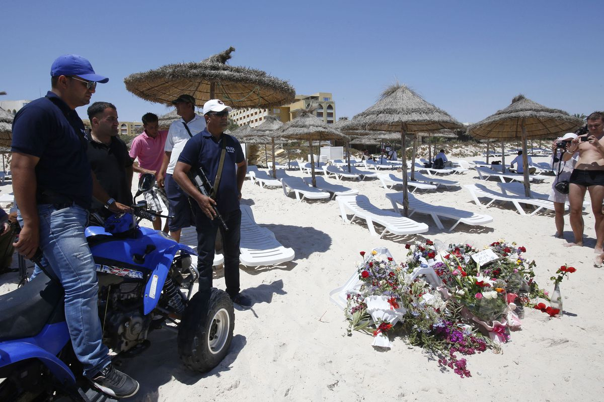 The beach at Sousse, Tunisia, two days after the attack