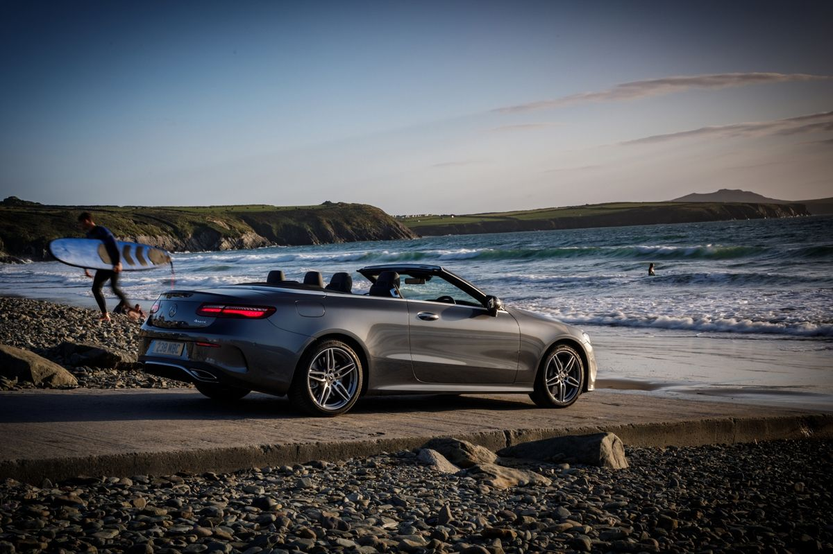 Enjoying sun, sea and sand with the top down