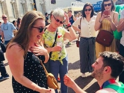 He gets a medal, she gets an engagement ring: Gareth's marathon ends with big question