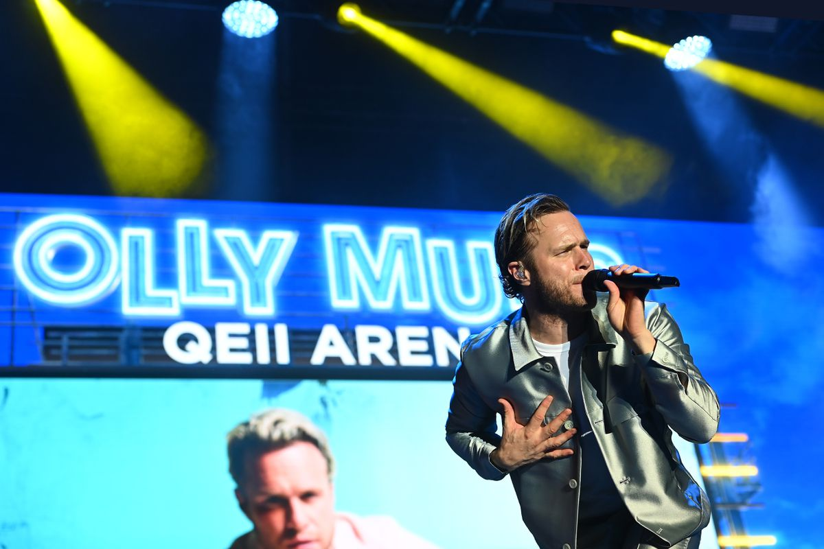Olly Murs performing at Telford's QEII Arena. Picture: Sam Bagnall
