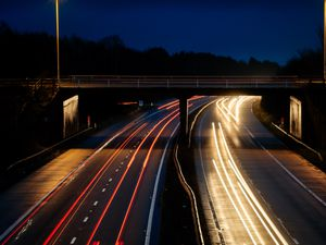 LAST WOLVERHAMPTON COPYRIGHT SHROPSHIRE STAR EXPRESS & STAR JAMIE RICKETTS 12/01/2021 - M54 Motorway Tong Interchange - at 8am during Lockdown 3.0 showing how busy it is despite the lockdown. In Picture: Facing towards Wolverhampton direction from Telford direction..