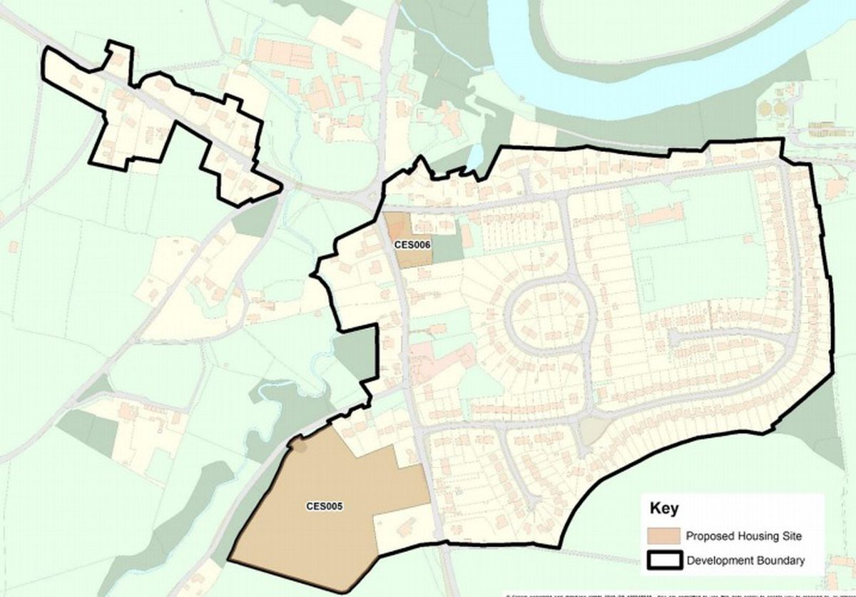 The proposed sites for new housing in Cressage. Picture: Shropshire Council