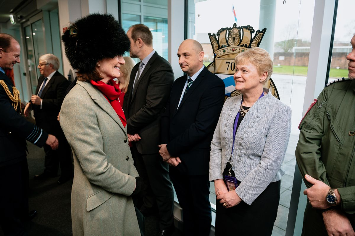 Shropshire's Lord Lieutenant, Anna Turner, attends the opening of the Duke of Cambridge Building